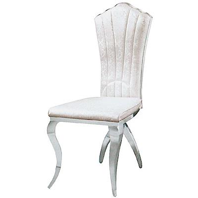 AS-赫瑟爾白色餐椅-48x51x106cm