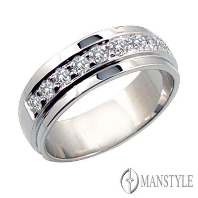 MANSTYLE DIAMOND「真情長久」0.46ct 南非天然鑽戒-男