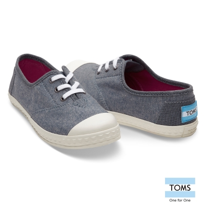 TOMS 牛仔帆布休閒鞋-童款