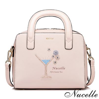 NUCELLE 夏日甜美夢幻香檳杯手提包 甜美粉