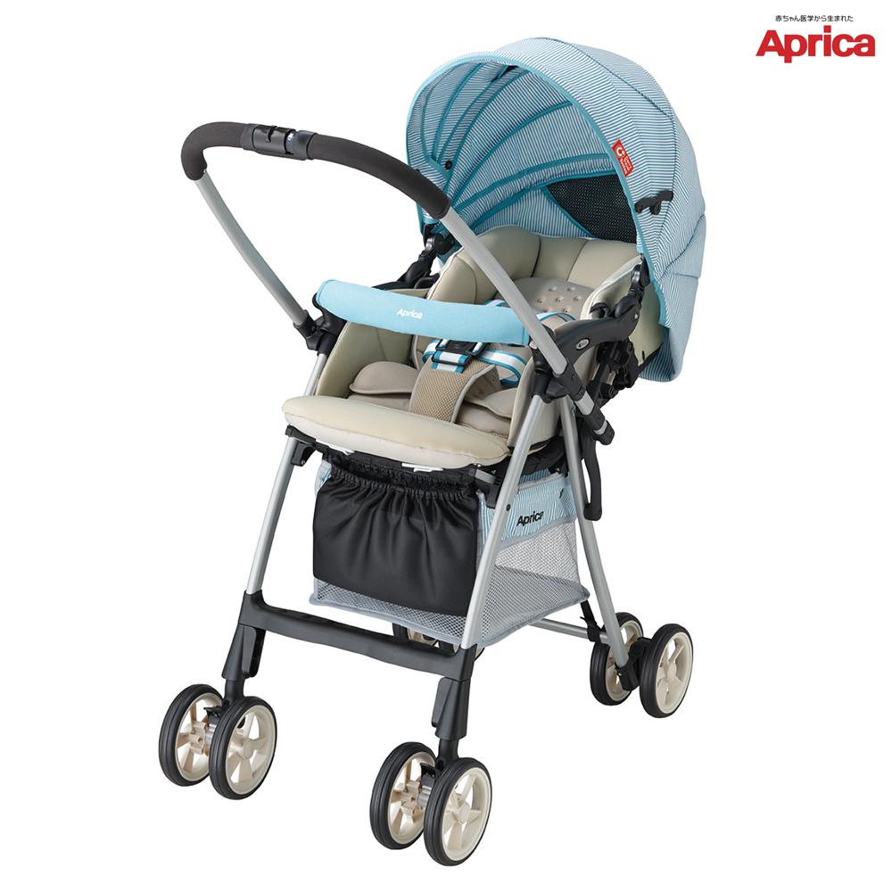 (清倉下殺)【Aprica】 LUXUAN Ligth輕量型雙向嬰幼兒手推車 GN馬爾地夫