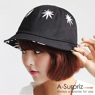 A-Surpriz 潮流楓葉漁夫帽(黑)