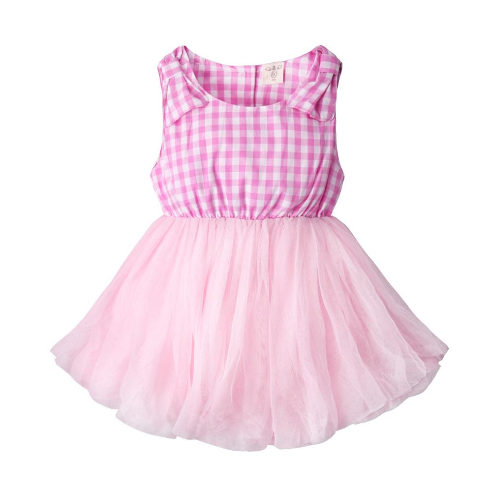 baby童衣 兒童洋裝 格紋蝴蝶結蕾絲紗裙 52266 product image 1