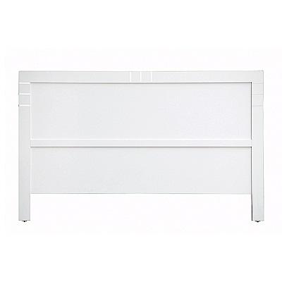 AS-雷根5尺白色床頭片-154x2x92cm