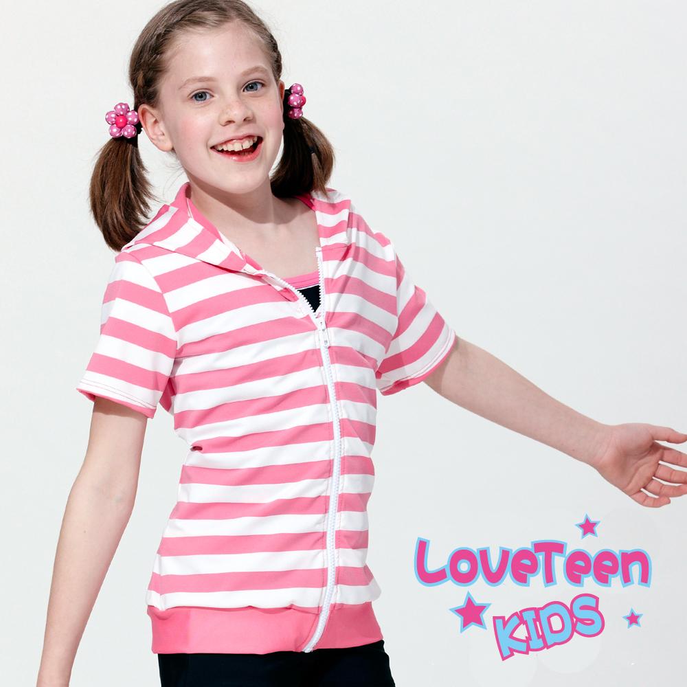夏之戀 KIDS 大女童短袖連帽外套
