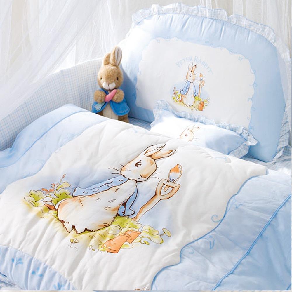 粉彩比得兔6件床組-粉藍L