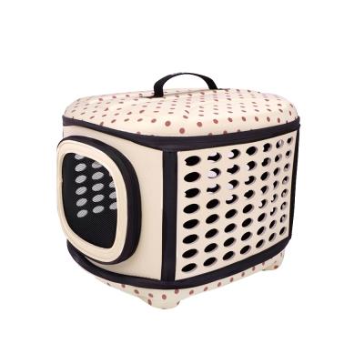 IBIYAYA依比呀呀-輕巧摺疊寵物提籠-米點點(FC1006)