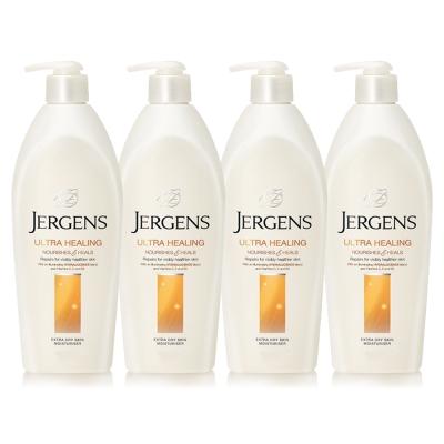 JERGENS珍柔 美體護膚保濕乳液650ml-長效配方x4