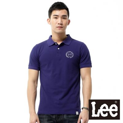 Lee 短袖POLO衫-男款- 藍色