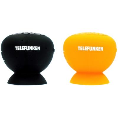 『福利品』TELEFUNKEN 彩虹蘑菇無線藍芽揚聲器  (橘+黑色2入組)