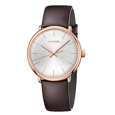 CK CALIVN KLEIN 巔峰系列鍍PVD玫瑰金手錶-40mm