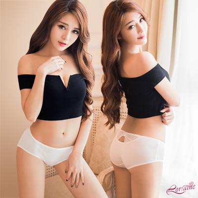 內褲 低腰水鑽造型三角內褲(白) Lorraine