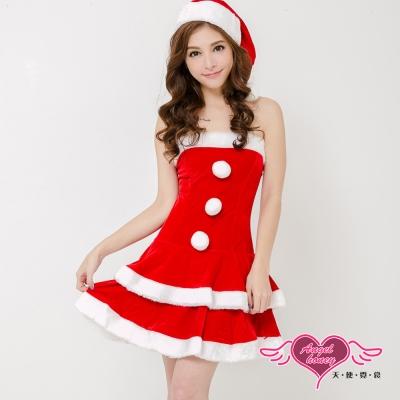 耶誕服 聖誕之戀狂熱聖誕舞會角色服(紅F) AngelHoney天使霓裳
