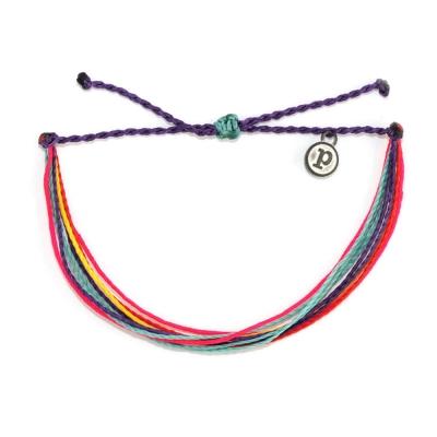 Pura Vida 美國衝浪品牌 PACIFIC AIR 桃粉水藍紫色可調式手鍊