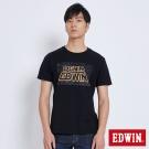 EDWIN 太空銀河夜光短袖T恤-男-黑色
