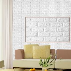 3D立體泡棉磚紋壁貼三片(70X77CM)