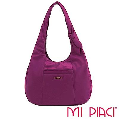 MI PIACI-百貨專櫃-婕兒系列-肩背HOBO包-1180393-玫瑰紅