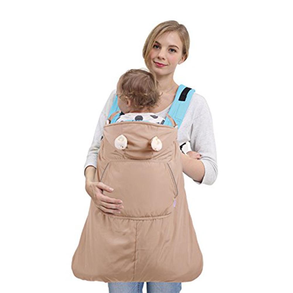 珊瑚絨嬰兒披風防潑水抱嬰腰凳背帶-共3色