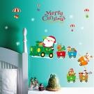 時尚壁貼 - 聖誕卡車卡通