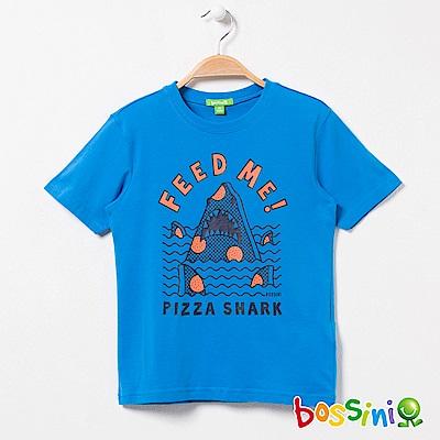bossini男童-印花短袖T恤01天藍