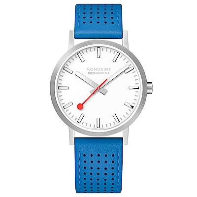 MONDAINE 瑞士國鐵Classic經典系列腕錶-40mm/天空藍