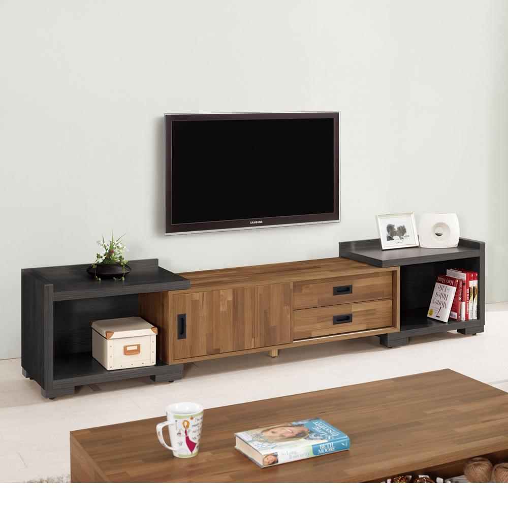 Boden-布羅4尺伸縮電視櫃/長櫃(兩色可選)-120~200x40x44cm