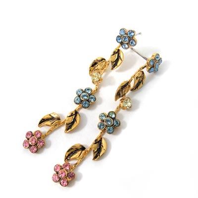 KOURIN花園系列-水鑽丁香垂吊耳環