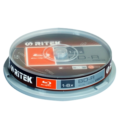 錸德 Ritek 藍光 X版 BD-R 6X 25GB (10片)