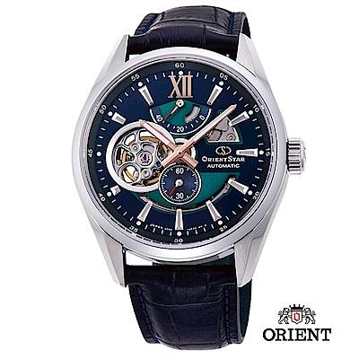 ORIENT STAR 東方之星 OPEN HEART系列 鏤空機械錶 皮帶款41.0mm