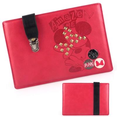 Disney 書包扣鉚釘搖滾米妮8吋通用平板保護包