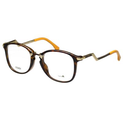 FENDI-造型光學眼鏡-琥珀色-FF0038