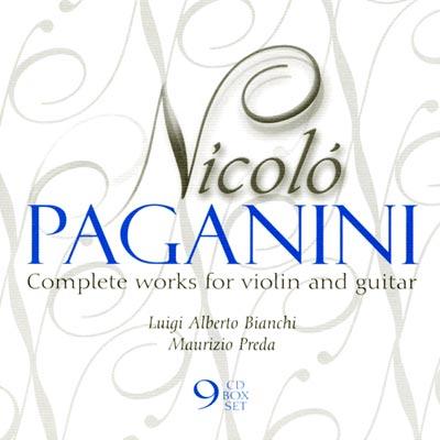 魔鬼的情歌-帕格尼尼-小提琴與吉他作品大全集-9CD
