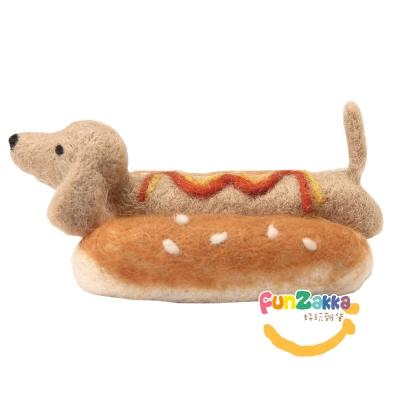 臘腸大亨堡*羊毛氈材料包棕犬