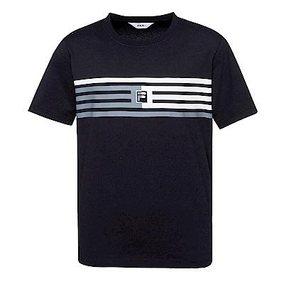 FILA #東京企劃 純棉圓領T恤-黑1TES-1408-BK