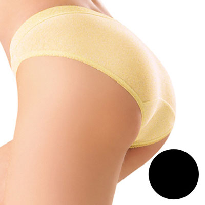 #【華歌爾】新伴蒂內褲M-LL超低腰三角款(墨黑色)
