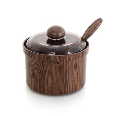 韓國製仿木紋佐料罐