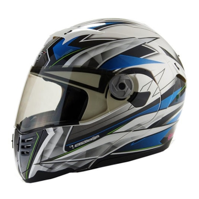 GP-5 722 風速全罩可掀式安全帽-藍銀-XXL
