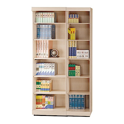品家居 多明尼3.3尺橡木紋開放式書櫃-100x33x180cm免組
