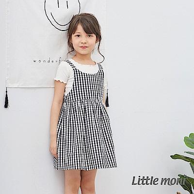 Little moni 夏日女孩平織洋裝 (2色可選)