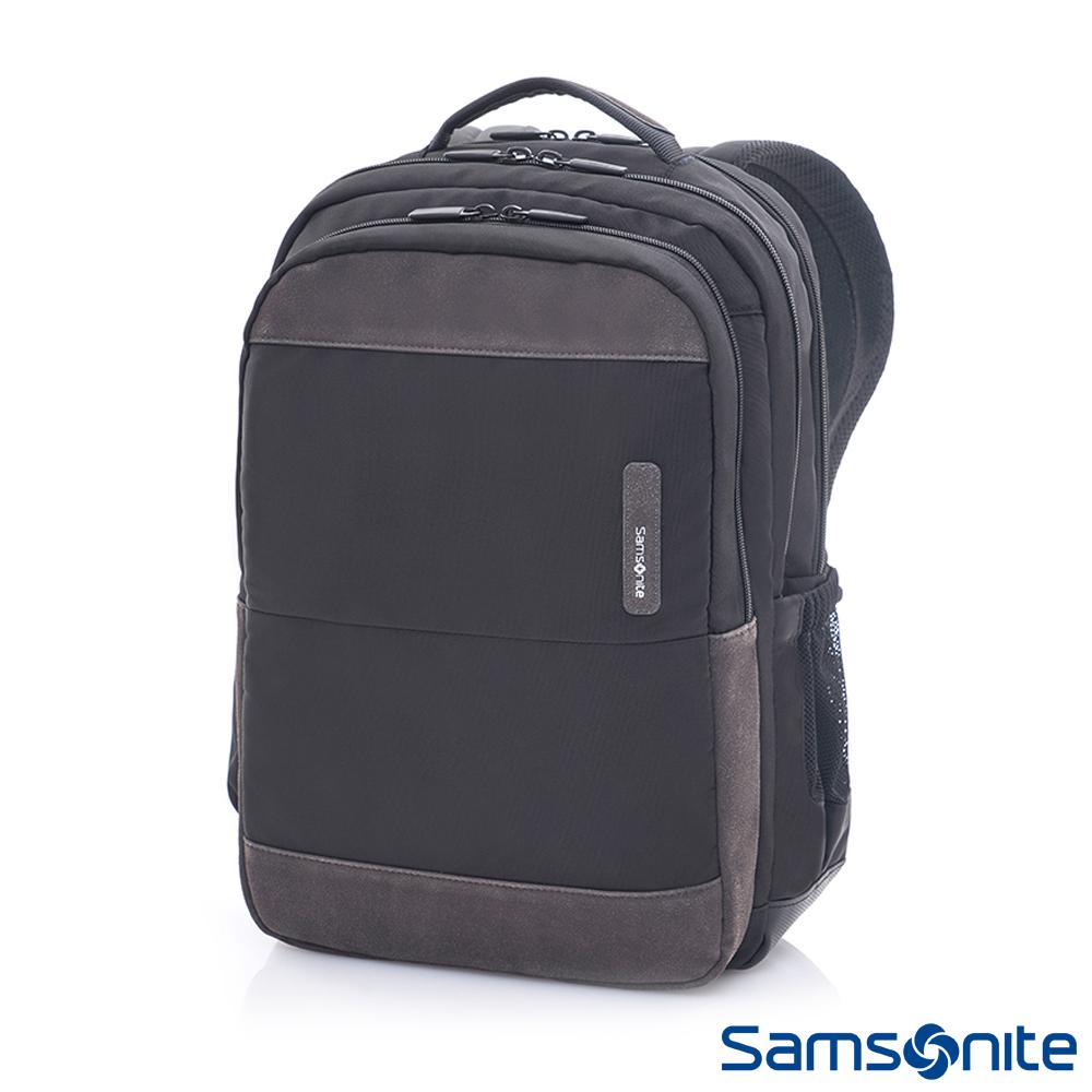 Samsonite新秀麗 Squad都市輕盈休閒筆電後背包II-14吋(黑/炭灰)