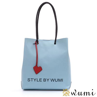 WuMi-無米-十字紋碧琪漾彩包-微風藍-快