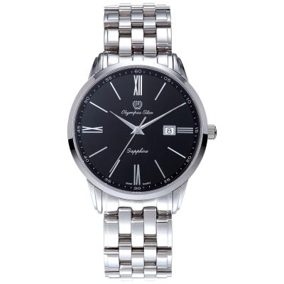 Olympia Star 奧林比亞之星  羅馬豪情石英腕錶-黑/40mm