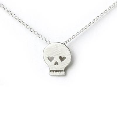 Dogeared 許願項鍊 銀色骷髏頭 21! Skull Necklace 附原廠盒