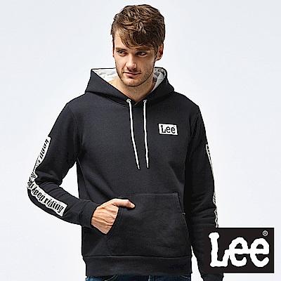 Lee  運動設計帽Tee-男款-黑