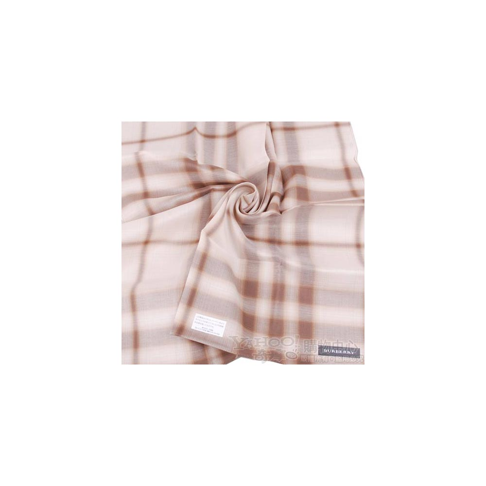 BURBERRY 經典大格紋帕領巾(咖啡)