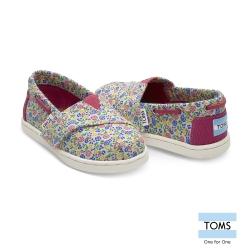 TOMS 花朵抽繩懶人鞋-幼童款