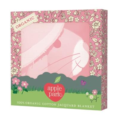 美國Apple Park有機棉透氣輕量毯長耳兔