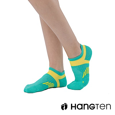 【HANG TEN】船型氣墊機能襪3雙入組(女)_黃綠(HT-A23002)