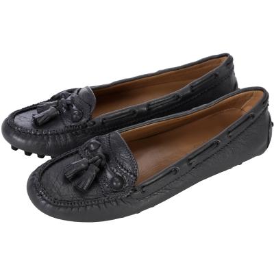BALENCIAGA巴黎世家 流蘇綴飾休閒平底鞋(深灰色)