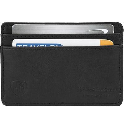 TRAVELON RFID手感證件夾(黑)